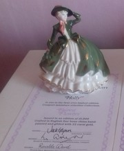 Holly - Coalport Fairest Flowers with Authenticity Certificate